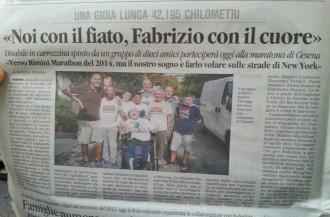 Noi col fiato, Fabrizio col cuore