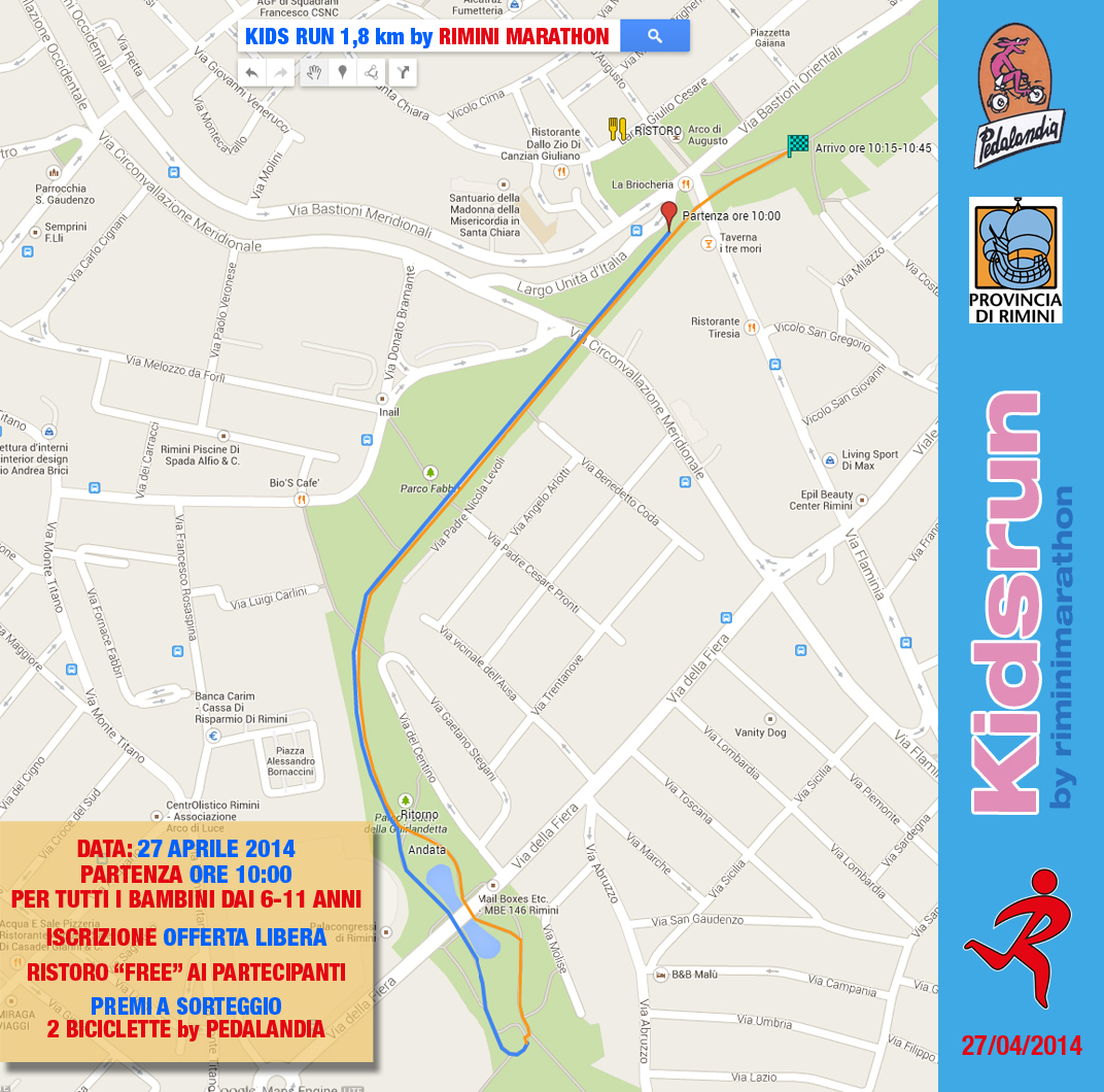 kids run 6-11 anni rimini marathon corsa per ragazzi