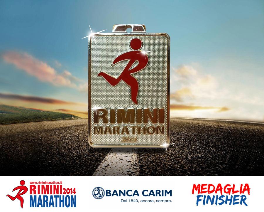 medaglia rimini marathon