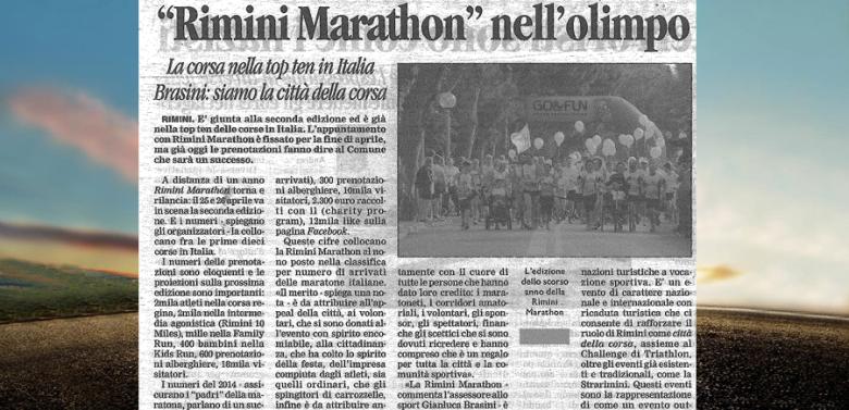 (Italiano) RIMINI MARATHON NELLA TOP TEN DELLE MARATONE D'ITALIA